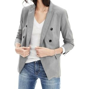 2017 Banana Republic Gray Wool Blazer Jacket